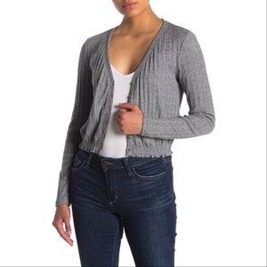 NWT Abound Pointelle Knit Crop Grey Sweater S